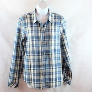 Current Elliott Linen Slim Boy Shirt Picnic Plaid